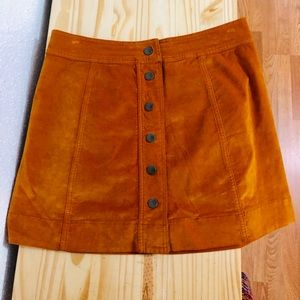 Madewell Skirts - ✨NWT Madewell Button Front Skirt, Sz 6